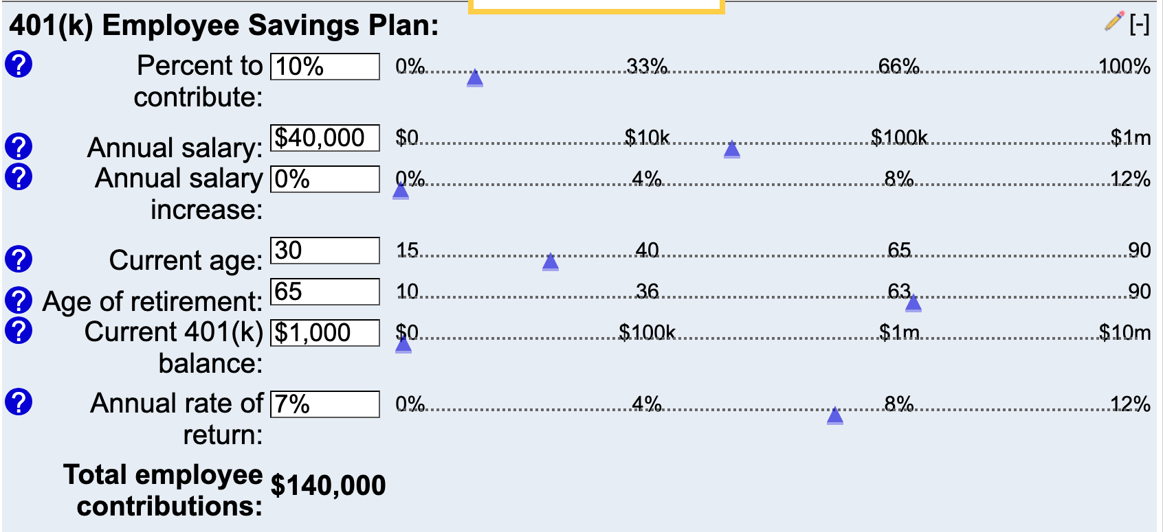 401k retirement calculator
