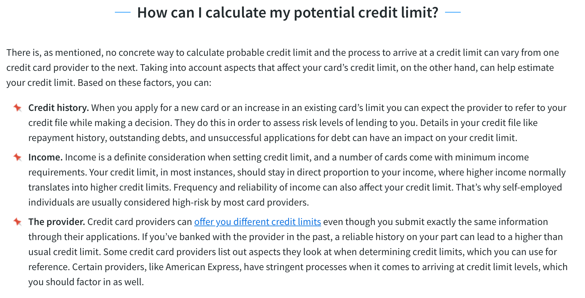 credit card limit calculator