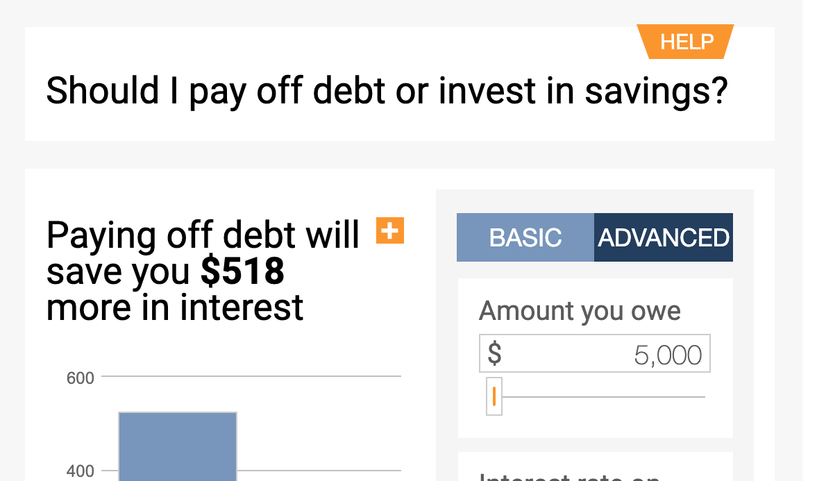 pay off debt or invest calculator