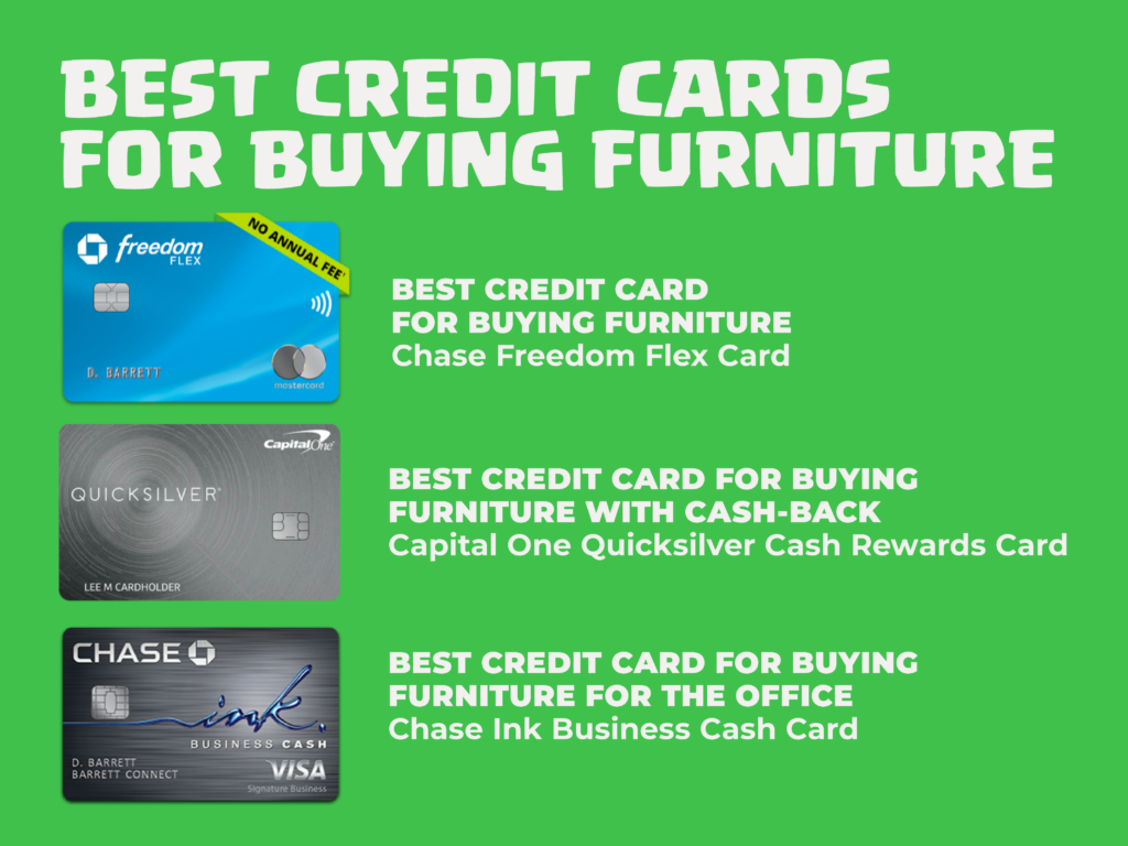 Best credit card for buying furniture