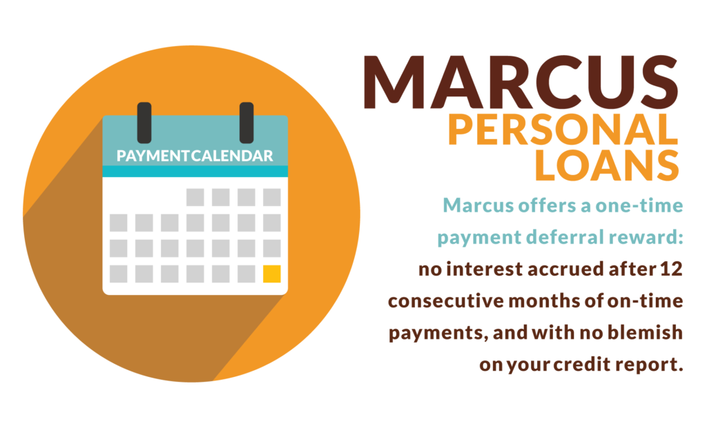 There's a lot to like about Marcus personal loans: few fees, larger loan amounts, flexible terms, and even the ability to defer a bill after 12 consecutive on-time payments.